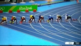Final 100 mètre jeux olympique 2016