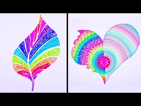 Most Amazing Art Video | 23 Smart Drawing Tricks 馃尮