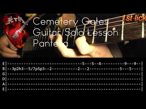 Cemetery Gates Guitar Solo Lesson - Pantera (with tabs)