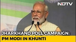 PM Narendra Modi Addresses Rally In Jharkhand