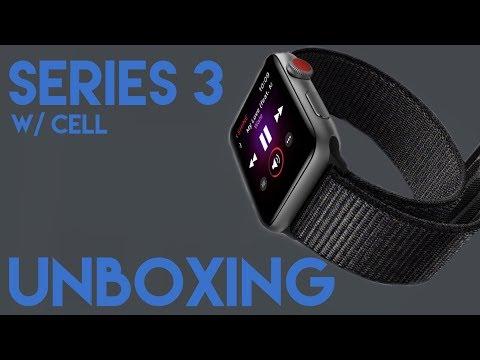 Apple Watch Series 3 Unboxing w/ cellular (Space Grey & Sport Loop)