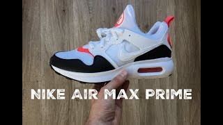 Penetración biblioteca Río arriba  Nike Air Max Prime 'white/white-siren/red black' | UNBOXING & ON FEET |  fashion shoes | 2017 | HD - YouTube