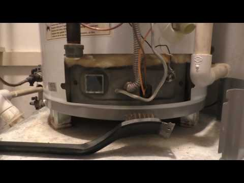 how to clean hot water heater air intake screen