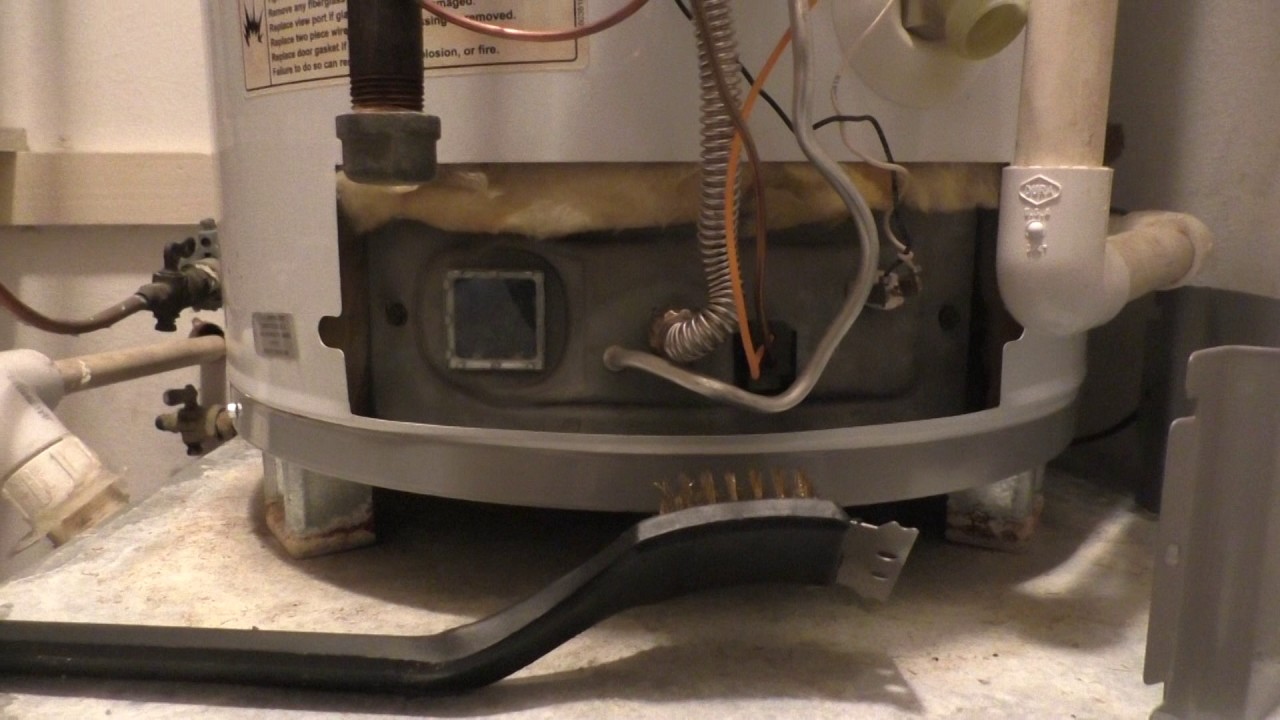 hight resolution of how to clean hot water heater air intake screen