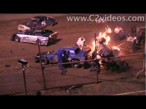 Fiery Crash and Heroic Rescue - Oklahoma Sports Park Oct. 1, 2011
