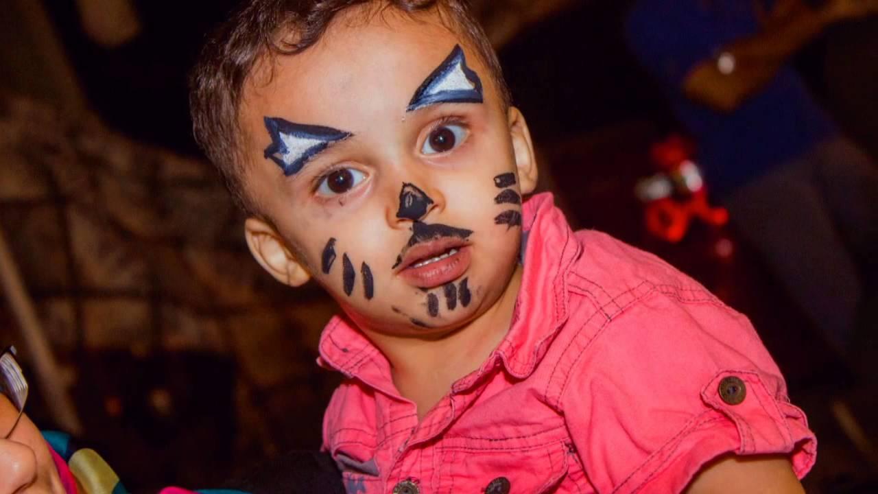فقرة الرسم على الوجه ضمن فعاليات حفله تسايم التا Youtube