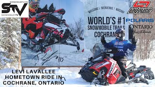 Levi Lavallee Hometown Ride in Cochrane, Ontario