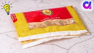 5 Best use of waste atta bag | Reuse rice bag | Room decor 2019 | Artkala4u