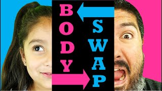 BODY SWAP: Dad And Daughter SWITCH Bodies! PRANK On Brothers!   Family Youtube Channel