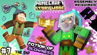 Lets Play Minecraft Story Mode #7:  THE SLOWEST KING! (The END of Episode Two: Assembly Required)