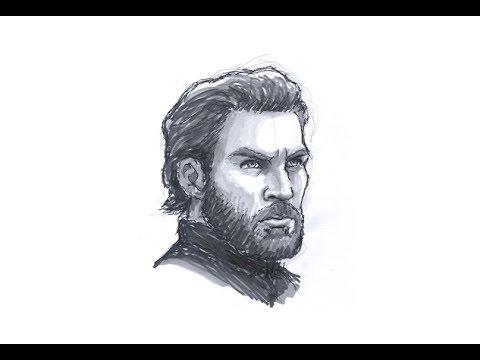 Sketch of Captain America / Steve Rogers from Marvel's Avengers thumbnail