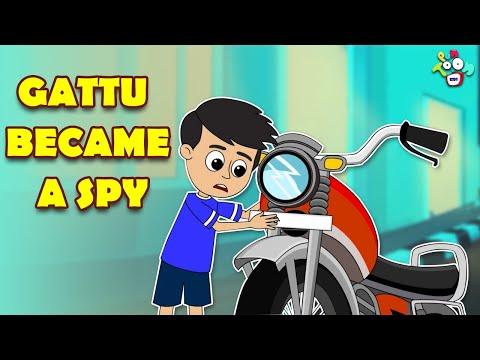 Gattu Became a Spy | Detective Gattu | Animated Stories | English Cartoon | Moral Stories | Puntoon