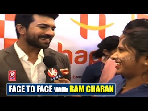 Face To Face With Ram Charan At Launch Event Of Happi Mobiles | Teenmaar News | V6 News
