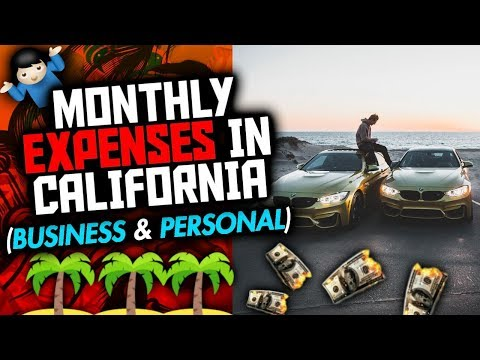 My Monthly Expenses Living In California At 18 (Business & Personal)