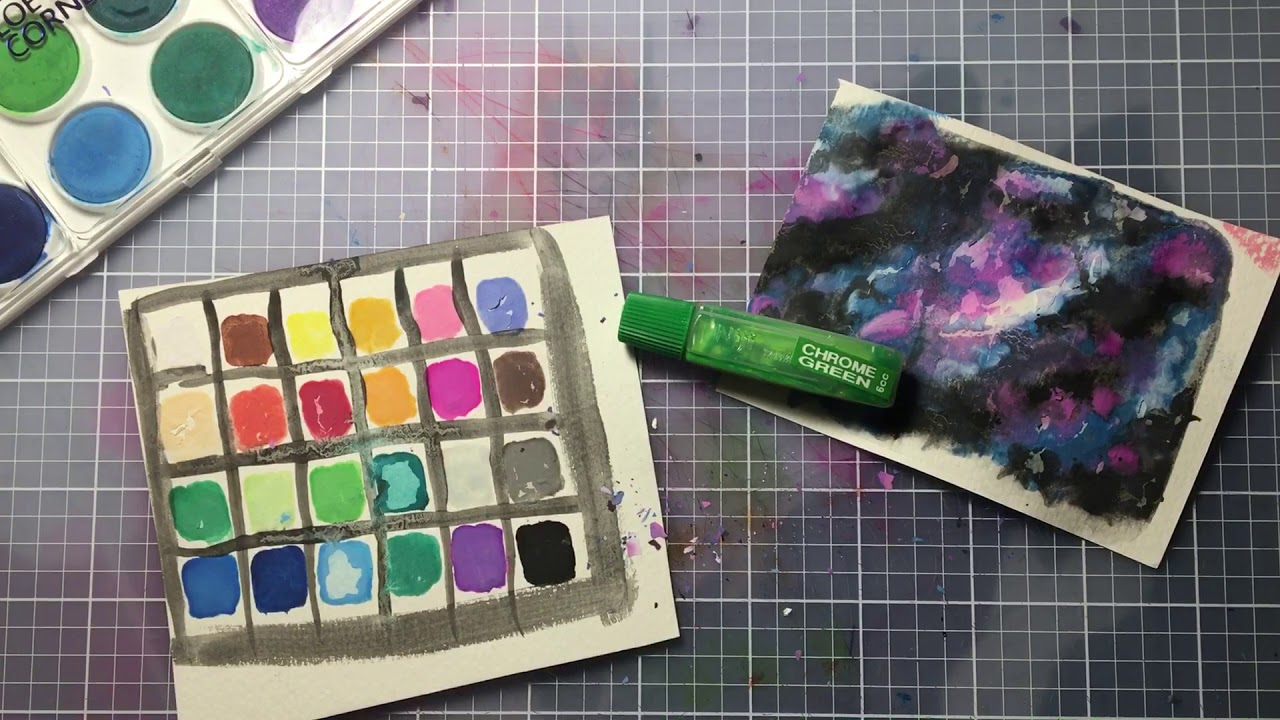 Brand New Loew Cornell And Niji Watercolors Review Youtube