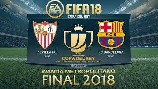 Fifa 18 sevilla vs barcelona | copa del rey final 2018 | ps4 full match