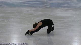Alina Zagitova Olympic 2018 SP Black Swan Practice C