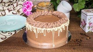 Шоколадно карамельный торт Кофейный бисквит Карамелизированые бананы