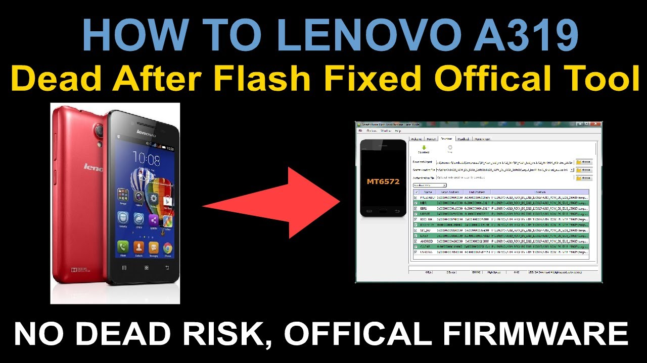 HOW TO LENOVO A319 Dead After Flash Fixed Offical Tool