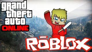 GTA V ONLINE bei Roblox! Lassen Sie uns die Bank rauben!!!