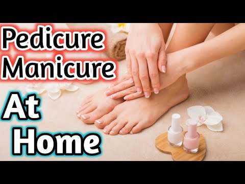 How To Do Whitening Pedicure And Manicure In Winter At Home/hand&foot Whitening/Beautician Course