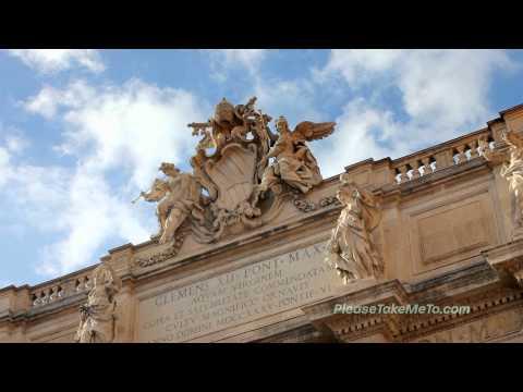 Trevi Fountain, Rome, Italy - 1080HD