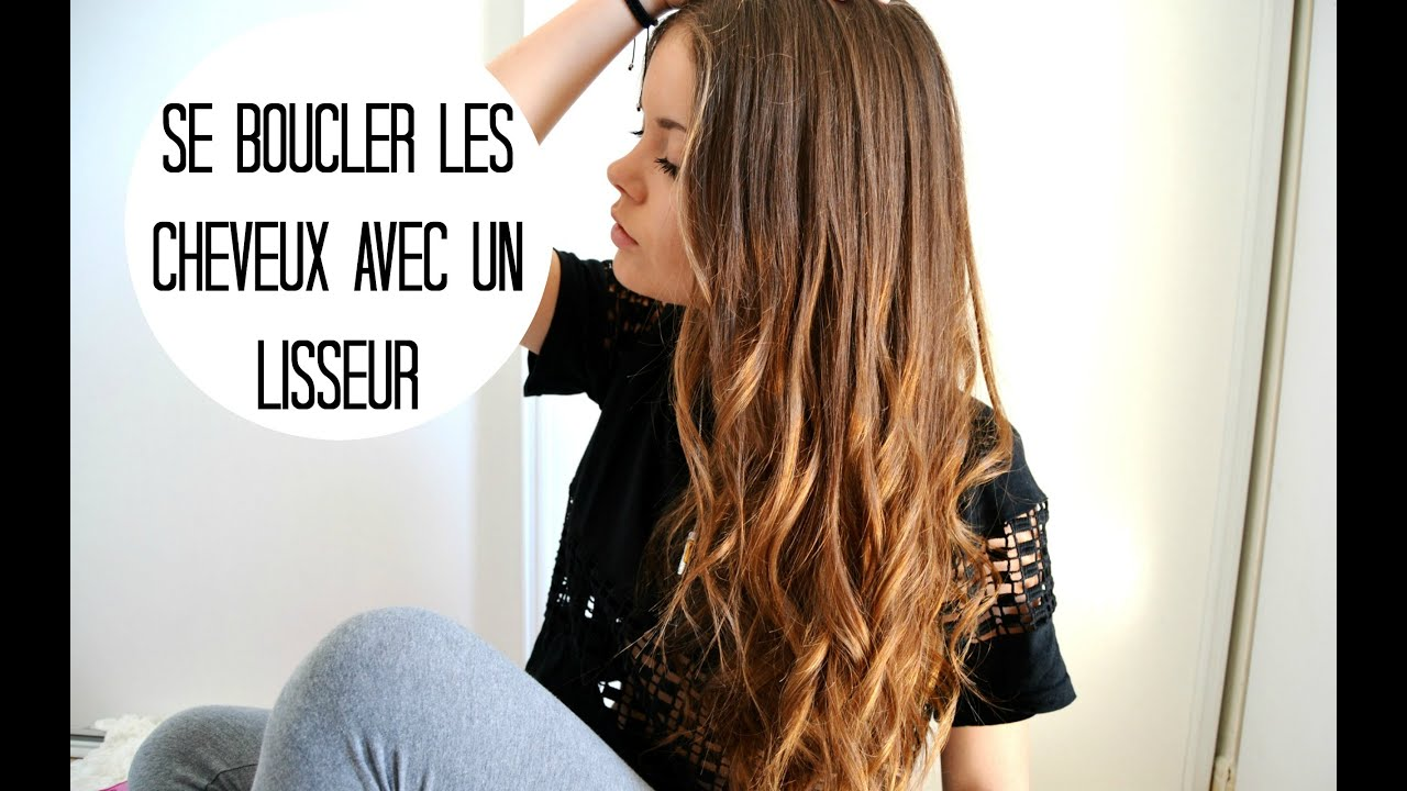 boucler ses cheveux avec un lisseur romy youtube. Black Bedroom Furniture Sets. Home Design Ideas