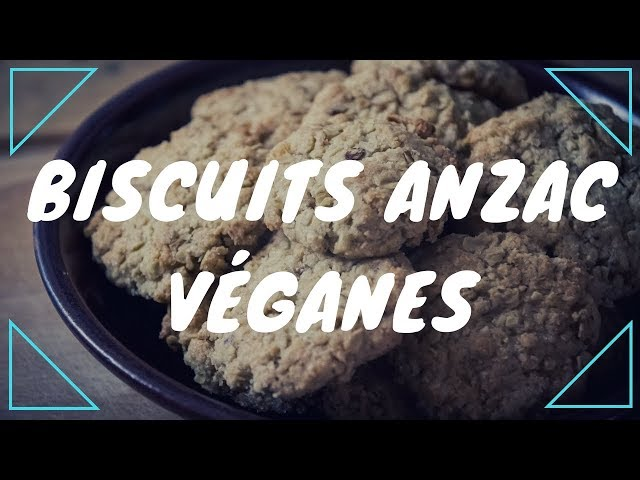Biscuits ANZAC véganes