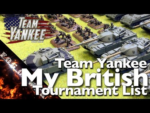 List Building | My First British Tournament List | Team Yankee