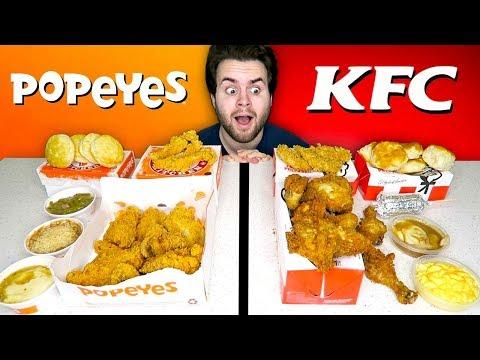 KFC Vs. Popeyes - Fast Food Restaurant Taste Test!