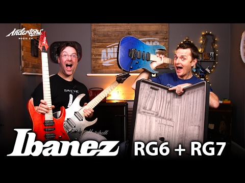 Ibanez RG6PCM & RG7PCM Guitars - Let's Rock These Muthers!!