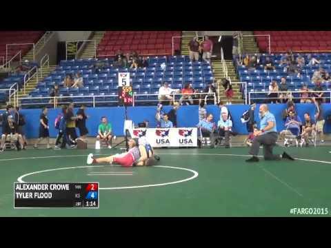 120 Champ. Round 2 - Tyler Flood (Kansas) vs. Alexander Crowe (Minnesota)