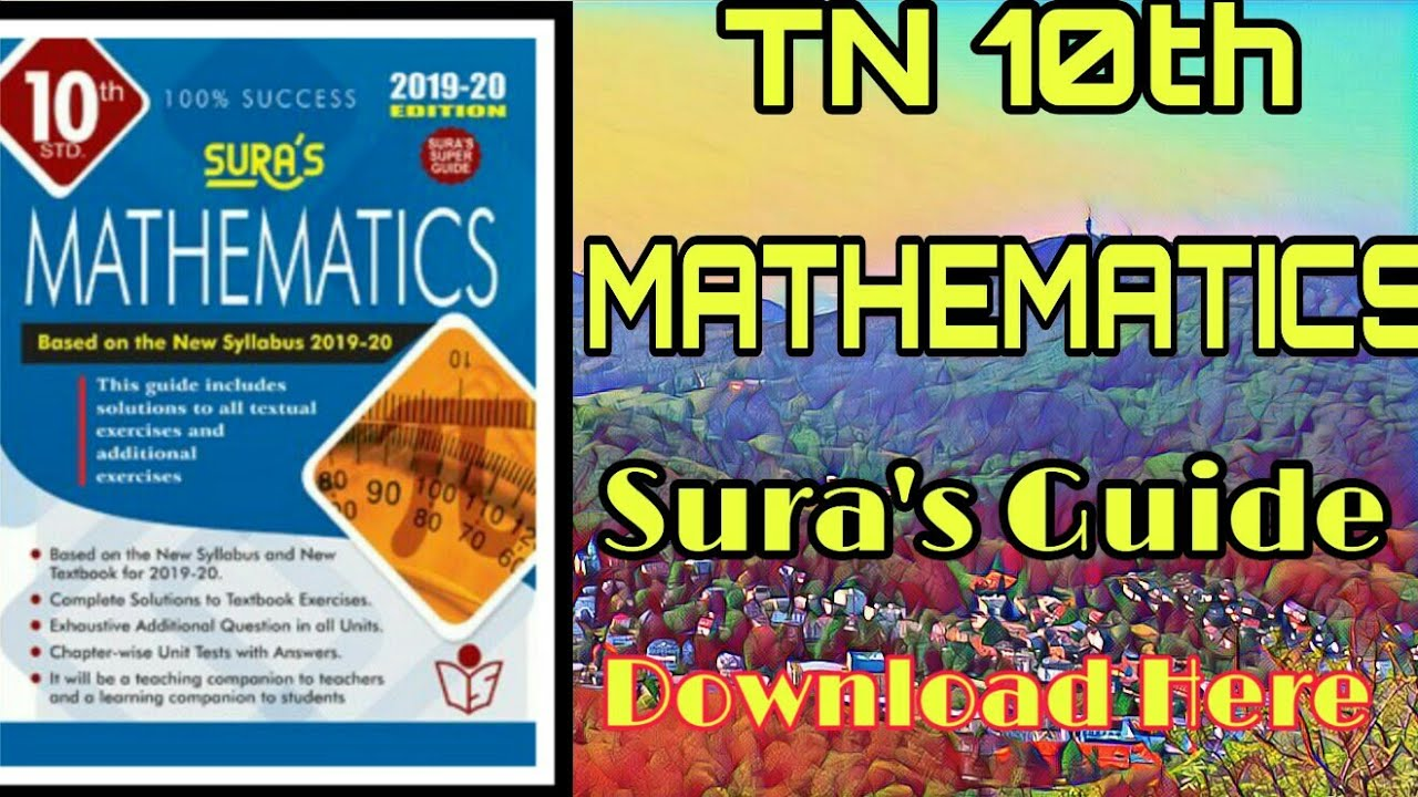 10th std MATHEMATICS SURA GUIDE Download here , 10th maths guide