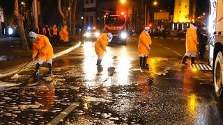 Фото В Тбилиси начали мыть и обрабатывать улицы чтобы остановить распространение коронавируса - видео