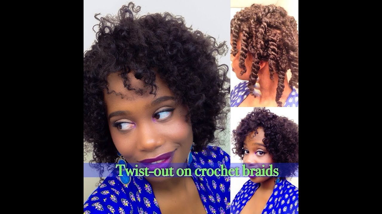 Crochet Twist Braids Youtube : Twist out on Crochet Braids - YouTube