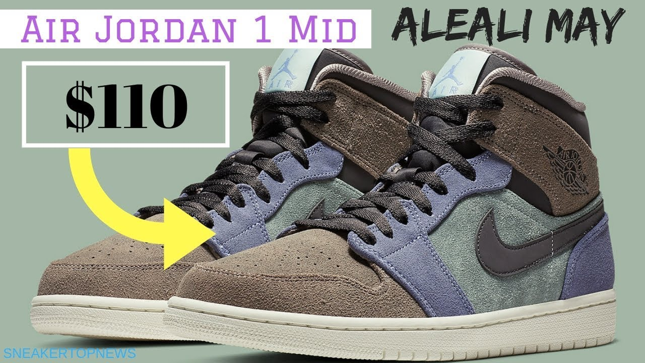 6fdc67f159a Suede Uppers Give This Air Jordan 1 Mid The Aleali May Vibes - YouTube