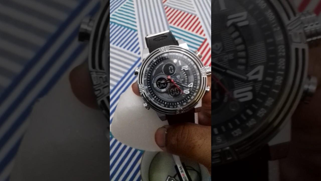 2e9fac368af Relógio Weide Anadigi Wh-5209 Preto - YouTube