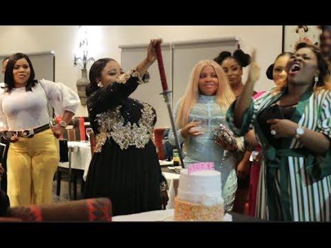 Bimbo Thomas Made A Speech As She Calls The Birthday Girl To Cut Her  Gigantic Cake