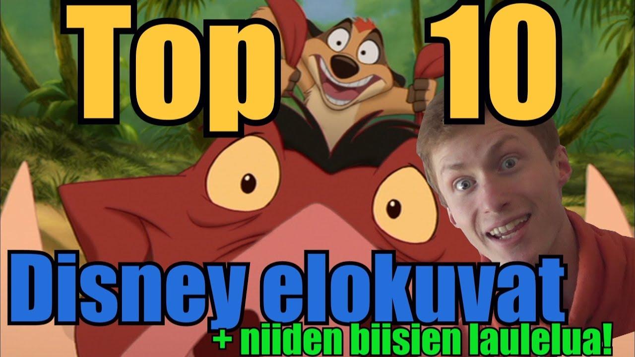 Top 10 Disney elokuvat! (+ lauleskelua) - YouTube
