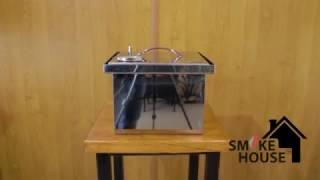 Обзор коптильни с гидрозатвором. Коптильня для горячего копчения из нержавеющей стали.