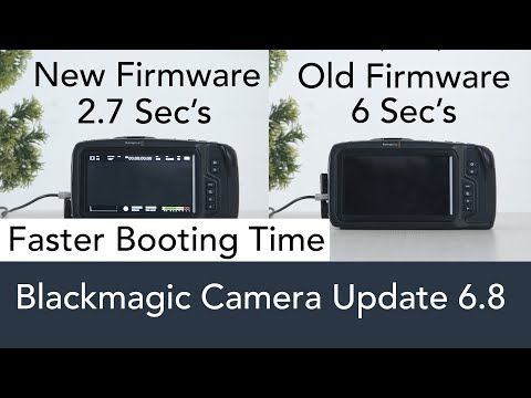 Blackmagic Camera New Firmware Update 6.8 (Bmpcc 6K & 4K )