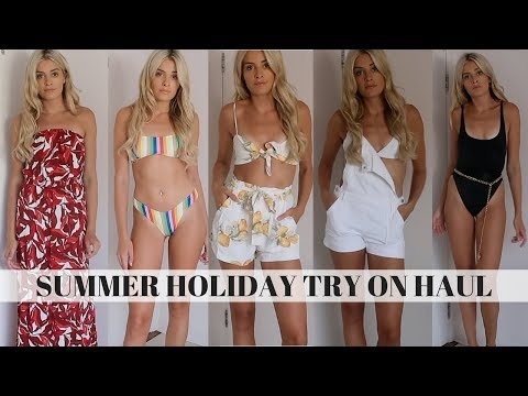 SUMMER HOLIDAY TRY ON HAUL | RIVER ISLAND, H&M, PRETTYLITTLETHING, ASOS & MORE