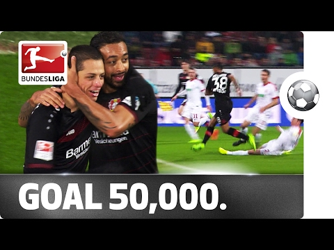 Leverkusen's bellarabi scores the 50,000th bundesliga goal