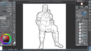 Clip studio paint -How to make smooth outlines