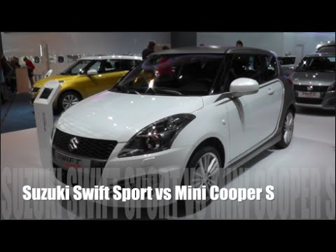 suzuki swift sport 2015 vs mini cooper s 2015 youtube