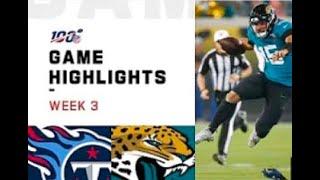 Jaguars vs. Titans Week 3 Highlights | NFL 2019