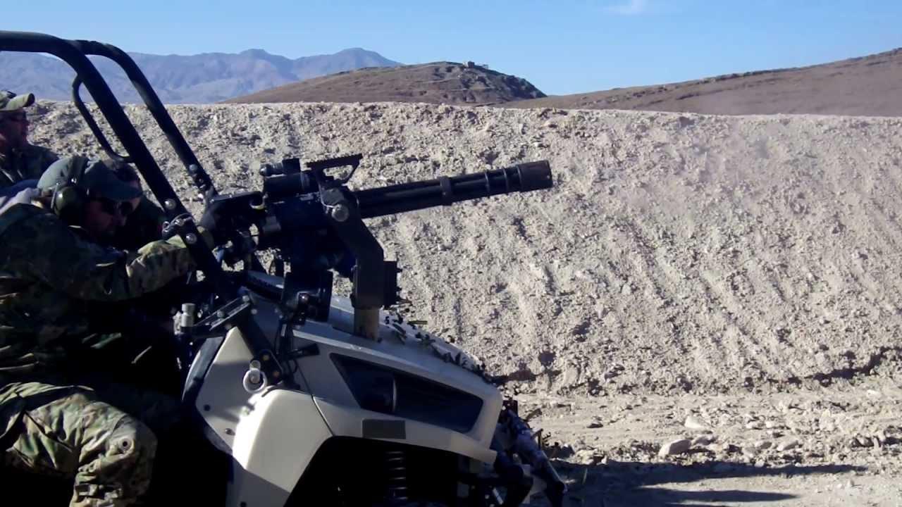 Minigun Mounted On Ltatv Youtube