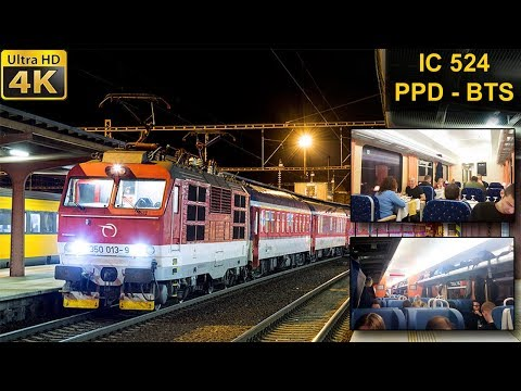 TRAIN EXPERIENCE   Poprad/Tatry - Bratislava   ZSSK Intercity Košice-Bratislava