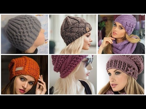 Trending and comfortable winter warms knitting hats wool beanies hat skull caps for women's