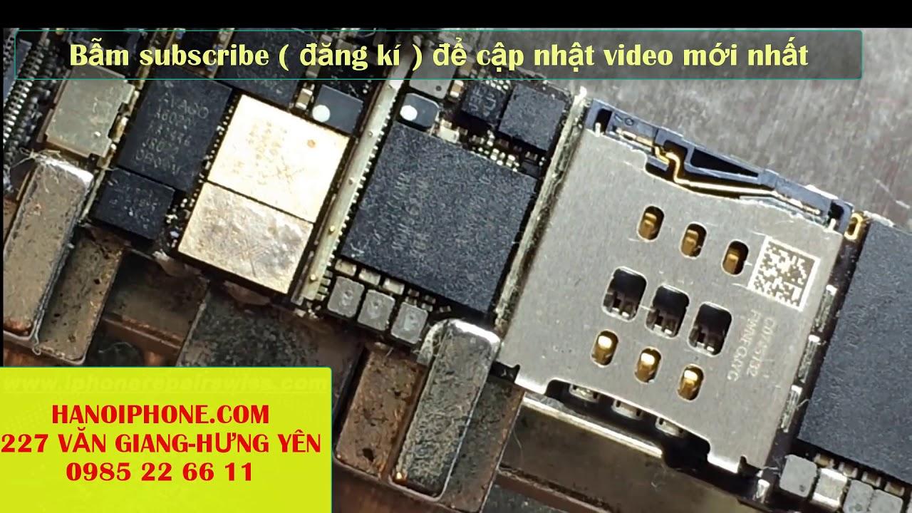 sửa lỗi iphone 6 lắp sim báo không có dịch vụ ( no service)